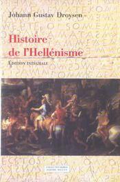 Histoire De L'Hellenisme - Intérieur - Format classique