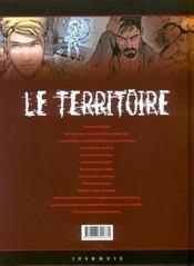 Le territoire t.2 ; hypnose - 4ème de couverture - Format classique