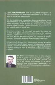 La Gestion Obligataire. 2e Edition 2006 - 4ème de couverture - Format classique