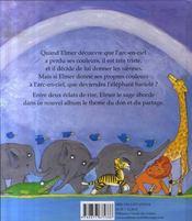 Elmer et l'arc en ciel - 4ème de couverture - Format classique