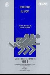 Etudes Et Recherches Du Giss N.5 ; Sociologie Du Sport - Couverture - Format classique