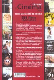 L'annuel du cinéma (édition 2006) - 4ème de couverture - Format classique
