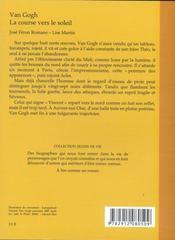 Van Gogh, La Course Vers Le Soleil - 4ème de couverture - Format classique