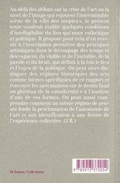 Partage Du Sensible (Le) - 4ème de couverture - Format classique