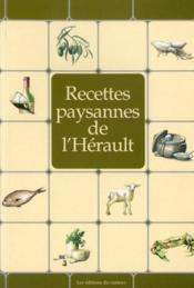 Recettes paysannes de l'Hérault - Couverture - Format classique