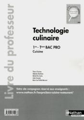 Techno Culinaire 1ere/Term Bpr - Couverture - Format classique