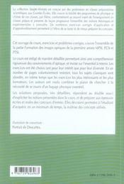 Optique Geometrique Mpsi-Pcsi-Ptsi Cours Et Exercices Corriges - 4ème de couverture - Format classique