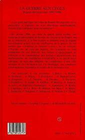 La Guerre Aux Civils, Bosnie-Herzegovine 1992-1996 - 4ème de couverture - Format classique