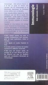 Immunologie ; aide-memoire illustré - 4ème de couverture - Format classique