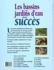 Jardinez Pratique ; Les Bassins Et Les Jardins D'Eau - 4ème de couverture - Format classique