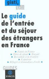 Guide Entree Et Sejour Des Etrangers En France - Intérieur - Format classique