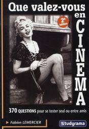 Que Valez-Vous En Cinema - Intérieur - Format classique