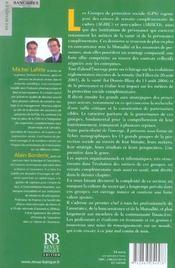 Les Groupes De Protection Sociale (Gps). Evolutions Depuis 1945 Et Perspectives - 4ème de couverture - Format classique