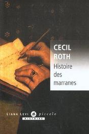 Histoire Des Marranes - Intérieur - Format classique