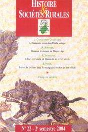Revue Histoire Et Societes Rurales N.22 - Intérieur - Format classique