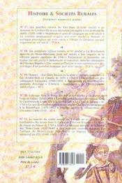 Revue Histoire Et Societes Rurales N.22 - 4ème de couverture - Format classique