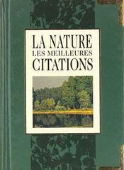 Les meilleures citations sur la nature - Intérieur - Format classique