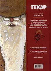 Tekap ; frère joyeux - 4ème de couverture - Format classique
