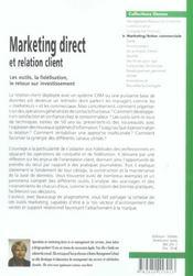 Marketing Direct Et Relation Client - 4ème de couverture - Format classique