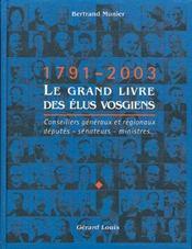 Le Grand Livre Des Elus Vosgiens - Intérieur - Format classique