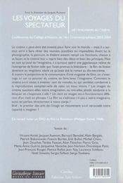 Les Voyages Du Spectateur ; De L'Imaginaire Au Cinema - 4ème de couverture - Format classique