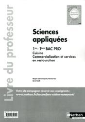 Sciences appliquees 1re/term bac pro cuisine et csr - professeur 2012 - Couverture - Format classique