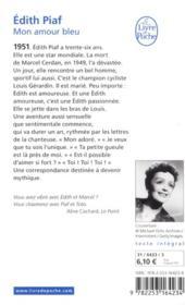 Mon amour bleu - 4ème de couverture - Format classique