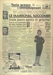 Paris Presse L'Intransigeant N°4939 du 27/10/1960 - Couverture - Format classique