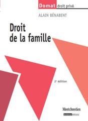 Droit de la famille (2e édition) - Couverture - Format classique