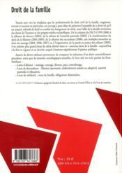 Droit de la famille (2e édition) - 4ème de couverture - Format classique