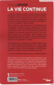Thierry Lepaon ; la vie continue - 4ème de couverture - Format classique