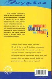 Une Nouvelle Famille, C'Est Pas Facile ! - 4ème de couverture - Format classique