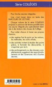 Boule de suif, de Guy de Maupassant - 4ème de couverture - Format classique