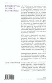 Introduction au siecle des menaces - 4ème de couverture - Format classique
