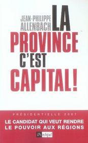 La province, c'est capital - Intérieur - Format classique