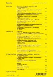 Revue Evolution Psychiatrique N.67 - 4ème de couverture - Format classique