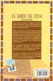 Le Tarot de Toth ( livre seul ) - 4ème de couverture - Format classique