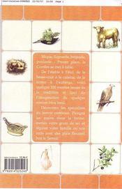 Recettes paysannes en corrèze - 4ème de couverture - Format classique