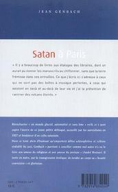 Satan A Paris - 4ème de couverture - Format classique