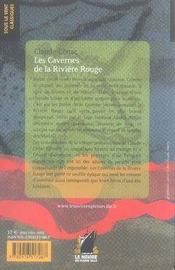 Les cavernes de la rivière rouge - 4ème de couverture - Format classique