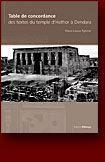 Table de concordance des textes du temple d'hator a dendera - Couverture - Format classique