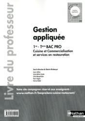 Gest Appliquee 1e/Term Bpro Cu - Couverture - Format classique