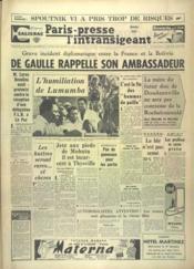 Paris Presse L'Intransigeant N°4972 du 04/12/1960 - Couverture - Format classique