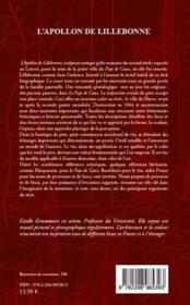 L'apollon de Lillebonne ; récit biographique - 4ème de couverture - Format classique