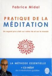 Pratique de la méditation - Couverture - Format classique