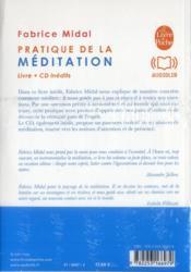 Pratique de la méditation - 4ème de couverture - Format classique