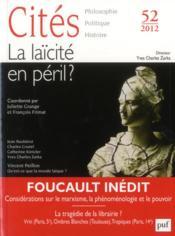 Revue Cites N.52 ; La Laïcité En Péril ? - Couverture - Format classique