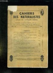Cahiers Des Naturalistes Fasc N° 1 1965. Sommaire: Notions Essentiels En Nomenclature Zoologique Et Botanique, Deux Plantes A Champigny Sur Marne... - Couverture - Format classique
