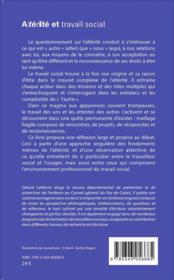 Alterité et travail social - 4ème de couverture - Format classique