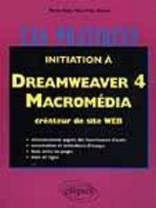 Initiation A Dreamweaver 4 Macromedia Createur De Sites Web - Intérieur - Format classique